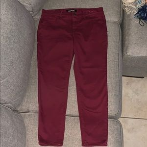 Express cropped legging mid-rise size 10
